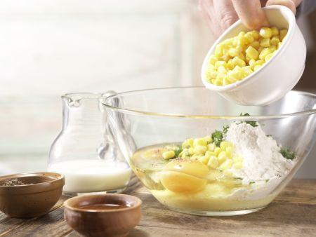 Schnelle Maispuffer: Zubereitungsschritt 3