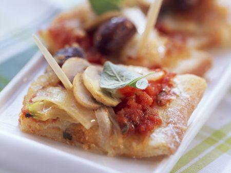 Rezept: Schnelle mit Pizza mit Fenchel