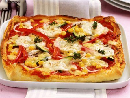 Schnelle Pizza mit Gemüse
