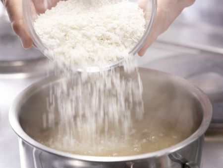 Schneller Gemüse-Risotto: Zubereitungsschritt 1