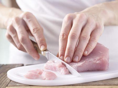 Schnelles Putengeschnetzeltes: Zubereitungsschritt 2