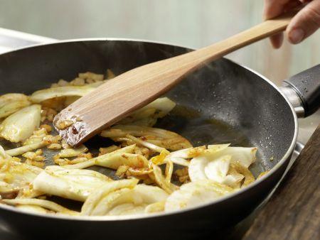 Schnitzel mit Tomatensauce und Polenta: Zubereitungsschritt 5