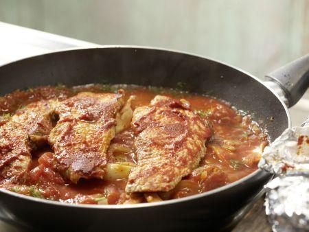 Schnitzel mit Tomatensauce und Polenta: Zubereitungsschritt 8