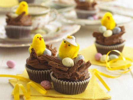 Schoko-Cupcakes zu Ostern