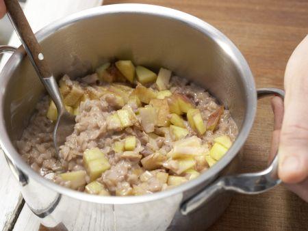 Schoko-Milchreis mit Pfirsich: Zubereitungsschritt 3
