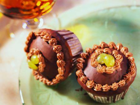 Schoko-Traubenmuffins