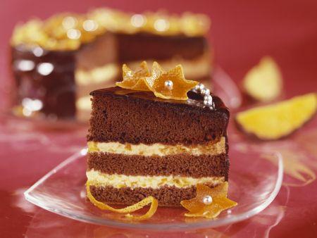 Schokoladen-Orangen-Torte