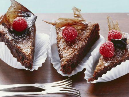 Schokoladenkuchen auf italienische Art