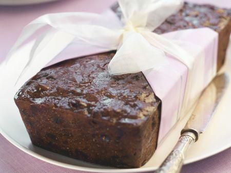 Schokoladenkuchen mit Feigen