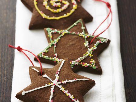 Schokoladensterne zu Weihnachten