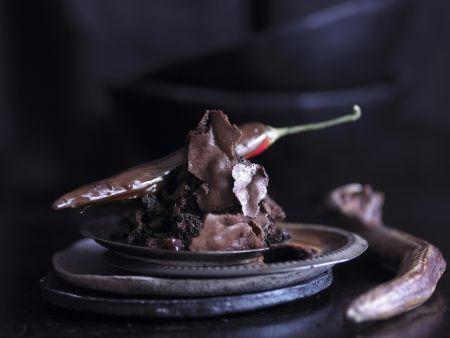 Schokoladentörtchen mit Chili