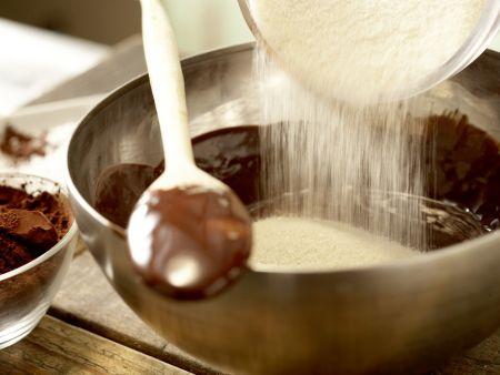 Schokoladentorte ohne Mehl: Zubereitungsschritt 2