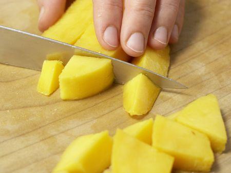 Schokotoast mit Mango-Smoothie: Zubereitungsschritt 1