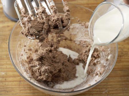 Schokowaffeln mit Bananenjoghurt: Zubereitungsschritt 4