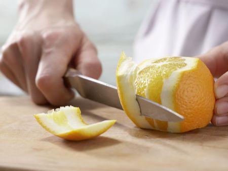 Schollenfilets in Orangensauce: Zubereitungsschritt 3