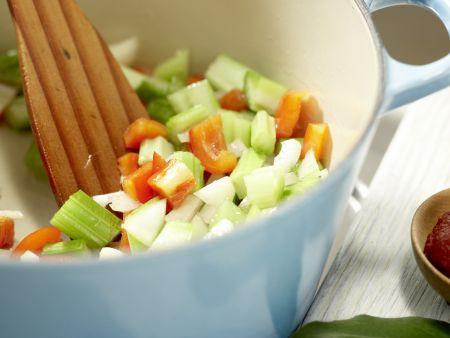 Schwarze Bohnensuppe: Zubereitungsschritt 5