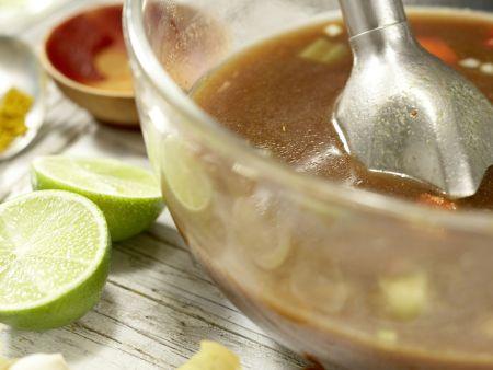 Schwarze Bohnensuppe: Zubereitungsschritt 8