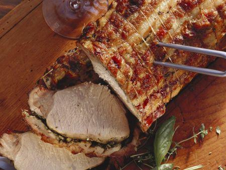 Schweinebraten auf italienische Art