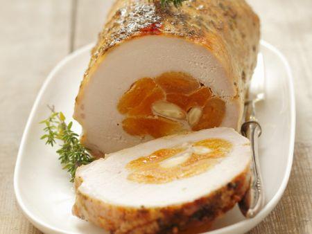 Rezept: Schweinebraten mit Aprikosen gefüllt