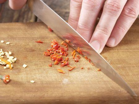 Schweinefilet-Lauch-Pfanne: Zubereitungsschritt 5
