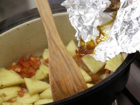 Schweinefilet mit Paprikagemüse: Zubereitungsschritt 7