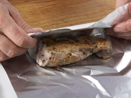 Schweinefilet mit Romanesco-Püree: Zubereitungsschritt 5