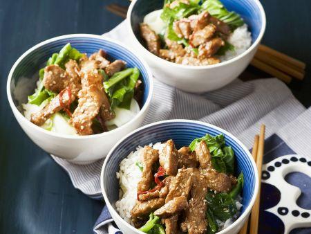 Rezept: Schweinefleisch asiatisch