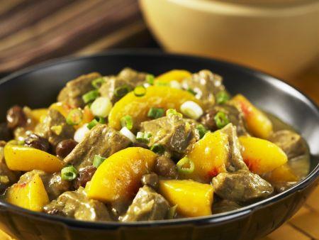 Rezept: Schweinefleisch-Pfirsich-Curry