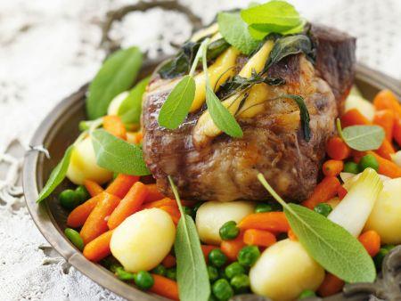 Schweinekamm mit Gemüse