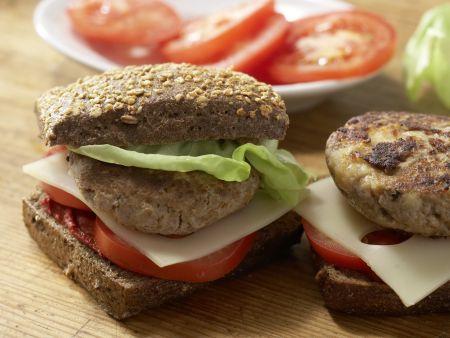 Selbstgemachte Cheeseburger: Zubereitungsschritt 9