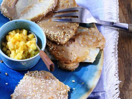 Rezept: Sellerie im Pfannkuchenmantel