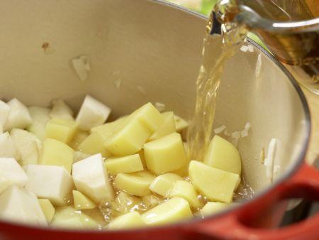 Selleriesuppe: Zubereitungsschritt 5