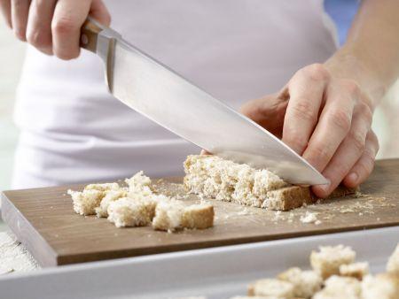 Semmelknödel auf Gemüse: Zubereitungsschritt 1
