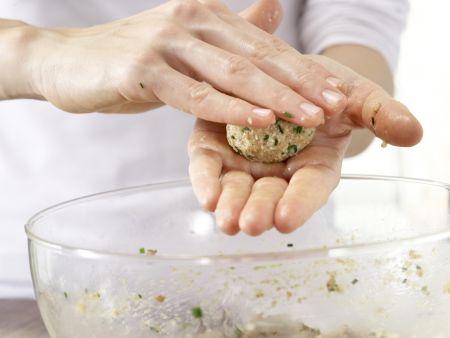 Semmelknödel auf Gemüse: Zubereitungsschritt 5
