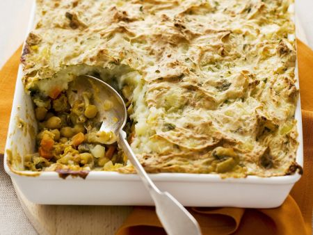Shephards Pie auf vegetarische Art