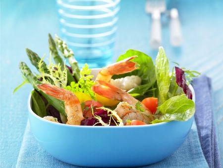 Shrimps-Spargel-Salat