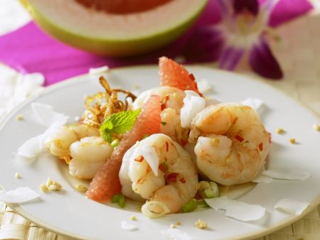 Shrimpsalat mit Pomelo und Grapefruit