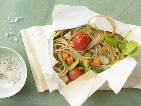 Rezept: Spaghetti in Backpapier