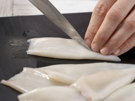 Spaghetti mit Calamaretti: Zubereitungsschritt 1