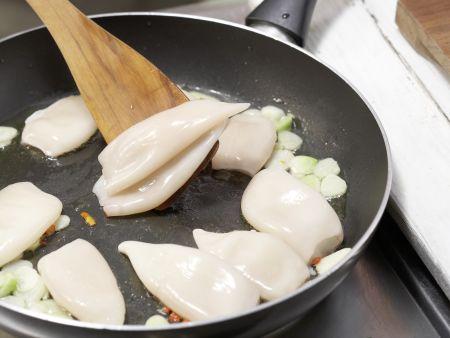 Spaghetti mit Calamaretti: Zubereitungsschritt 6