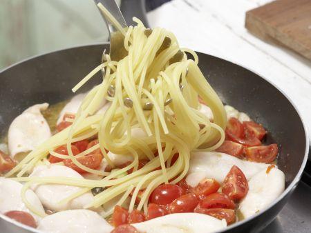 Spaghetti mit Calamaretti: Zubereitungsschritt 8