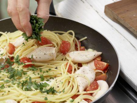 Spaghetti mit Calamaretti: Zubereitungsschritt 9