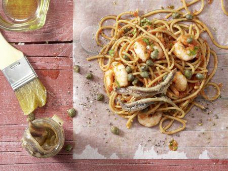 Spaghetti-Garnelen-Päckchen: Zubereitungsschritt 5
