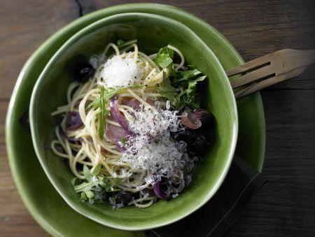 Rezept: Spaghetti mit Karamellzwiebeln