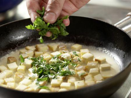Spaghetti mit Kräuter-Sojacreme: Zubereitungsschritt 6