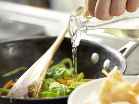 Spaghetti mit Lachs: Zubereitungsschritt 7