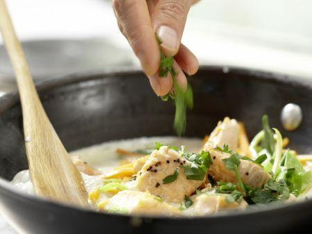 Spaghetti mit Lachs: Zubereitungsschritt 8