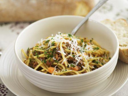 Spaghetti mit Hackfleischsauce