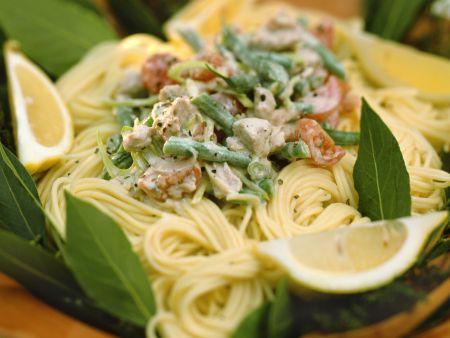 Spaghetti mit Thunfisch-Bohnen-Soße