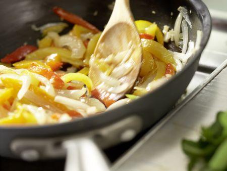 Spaghetti mit Paprika: Zubereitungsschritt 7